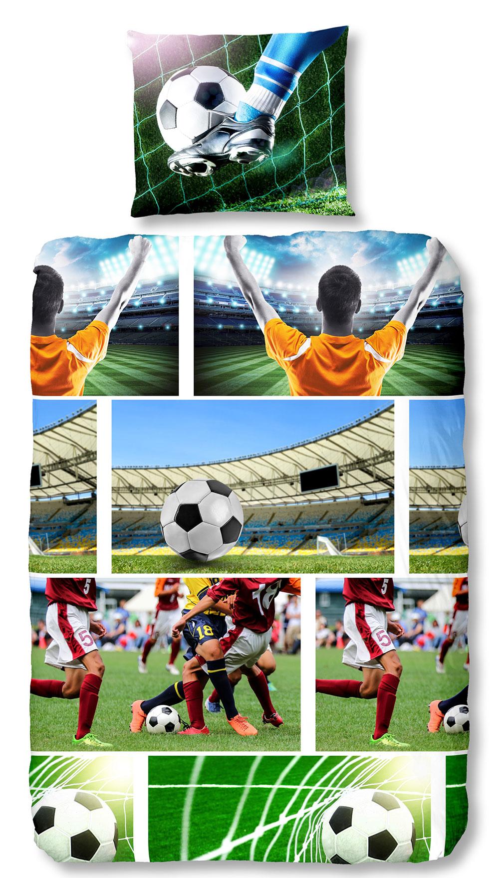Kinderdekbedovertrek Soccer Multi