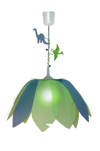 Hanglamp Dinosaurus Groen/Blauw