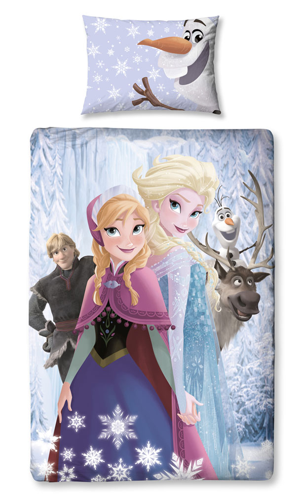 Elsa & Anna Frozen Bedtextiel Ice Crystals