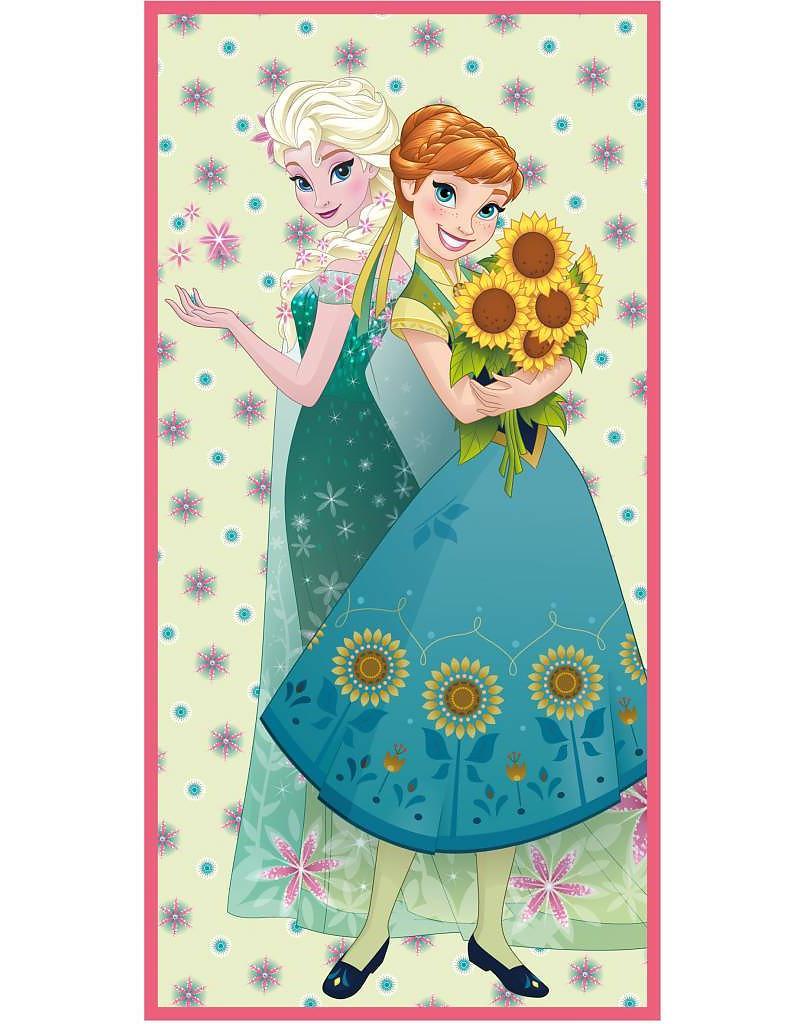 Strandlaken Frozen Elsa & Anna Sister Sunflowers