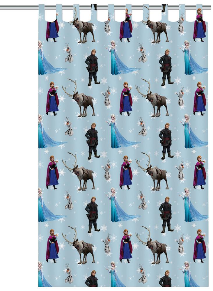 Frozen Anna en Elsa Gordijn Blauw