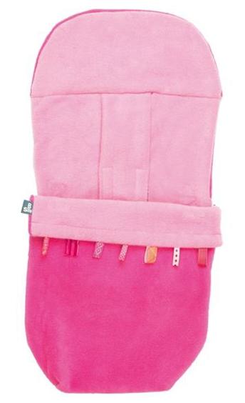 Baby Voetenzak Pink Fleece 0-12mnd