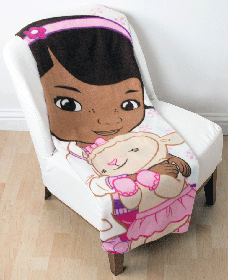 Doc McStuffins Love Fleece Plaid
