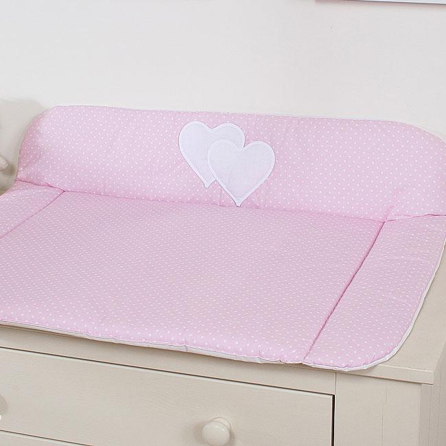 My Sweet Baby Aankleedkussen Two Hearts Dots-Roze
