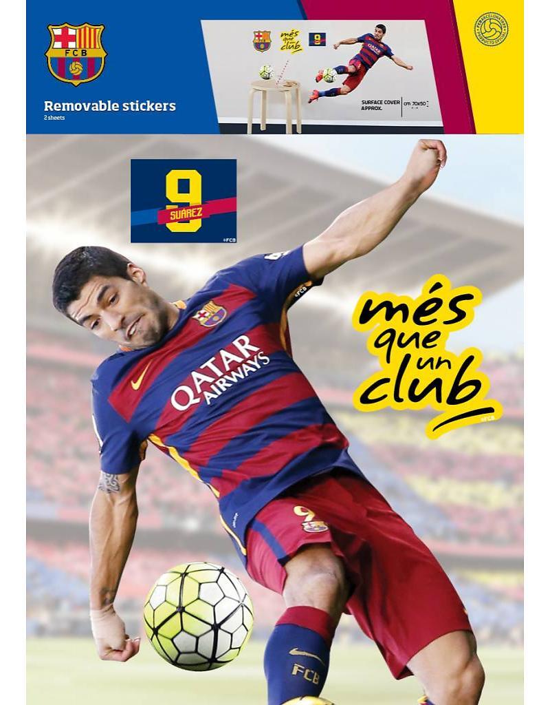Muurstickers Suarez 70x50cm Barcelona