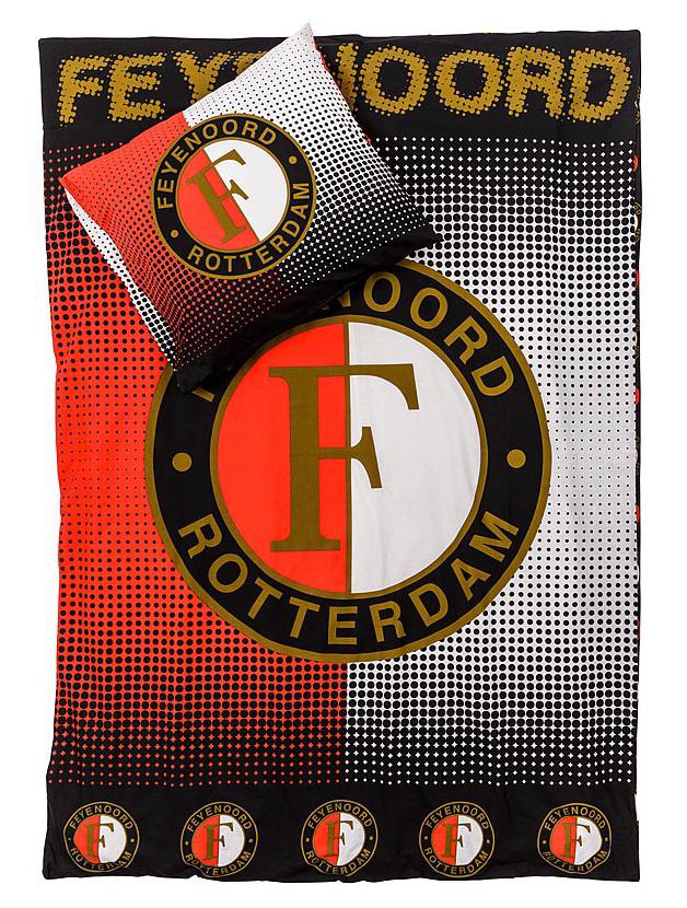 Feyenoord Dekbedovertrek 1 Persoons.Beddengoed Totaal Nl Feyenoord Dekbedovertrek Rood Grijs