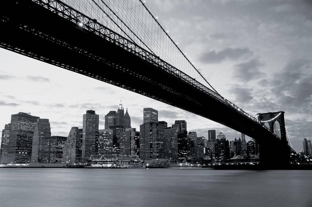New York Kamer Accessoires : New York Bridge Fotobehang (Wallpaper)