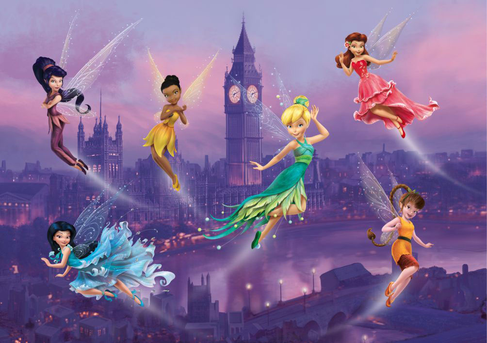 Fairies In London Fotobehang 4D (AG Design)