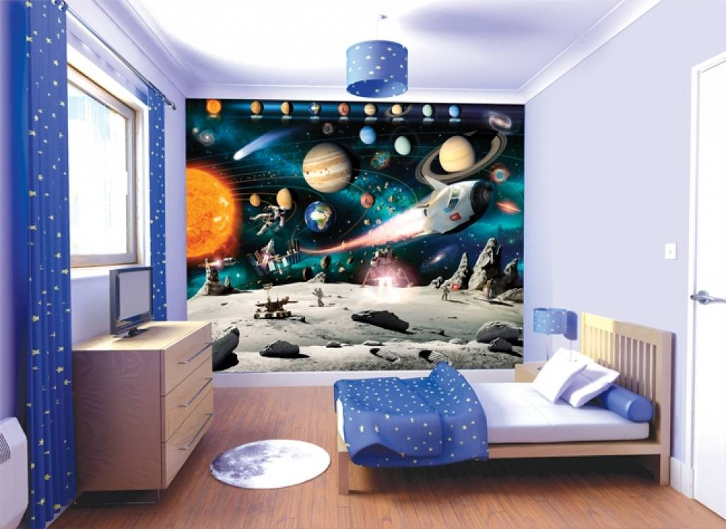 Behang Kinderkamer Ruimtevaart : Space Adventures Wall Mural