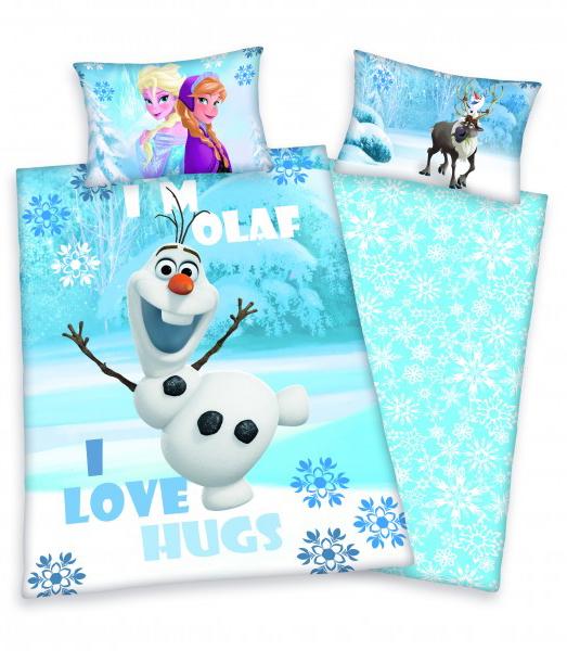 Frozen Dekbed Olaf I Love Hugs