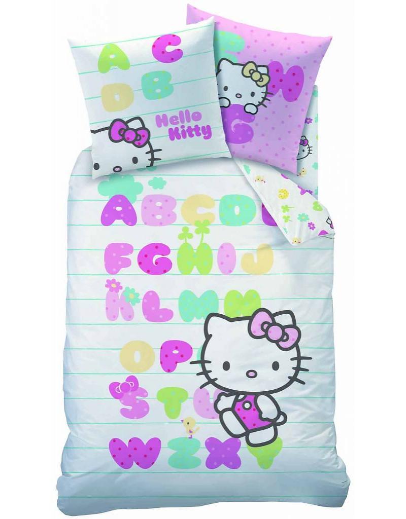 Hello Kitty Dekbedovertrek Alfabet