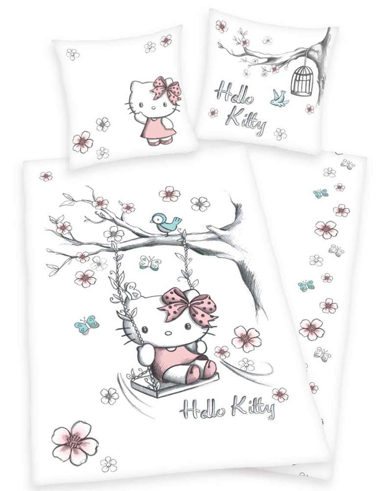 Hello Kitty Dekbed Flanel Schommel 100x135cm