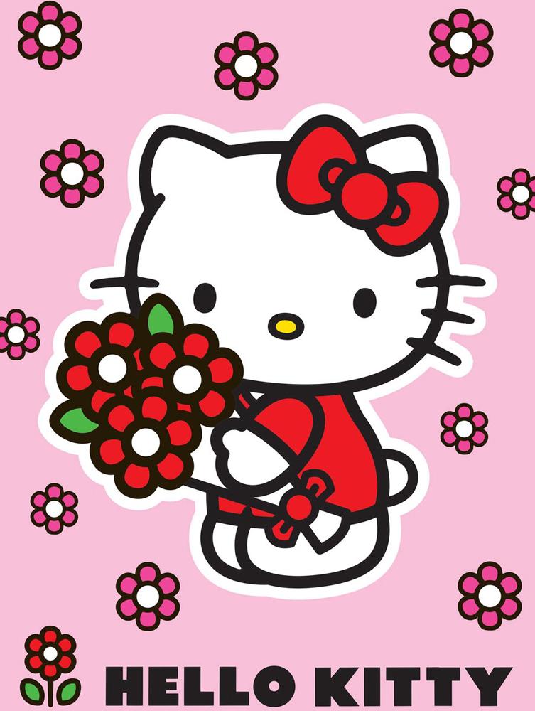 Hello Kitty Vloerkleed Red Flower