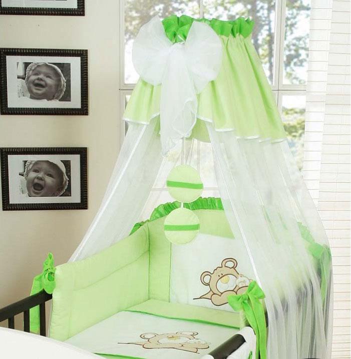 My Sweet Baby 3-delig Set Teddybeer Voile Lime
