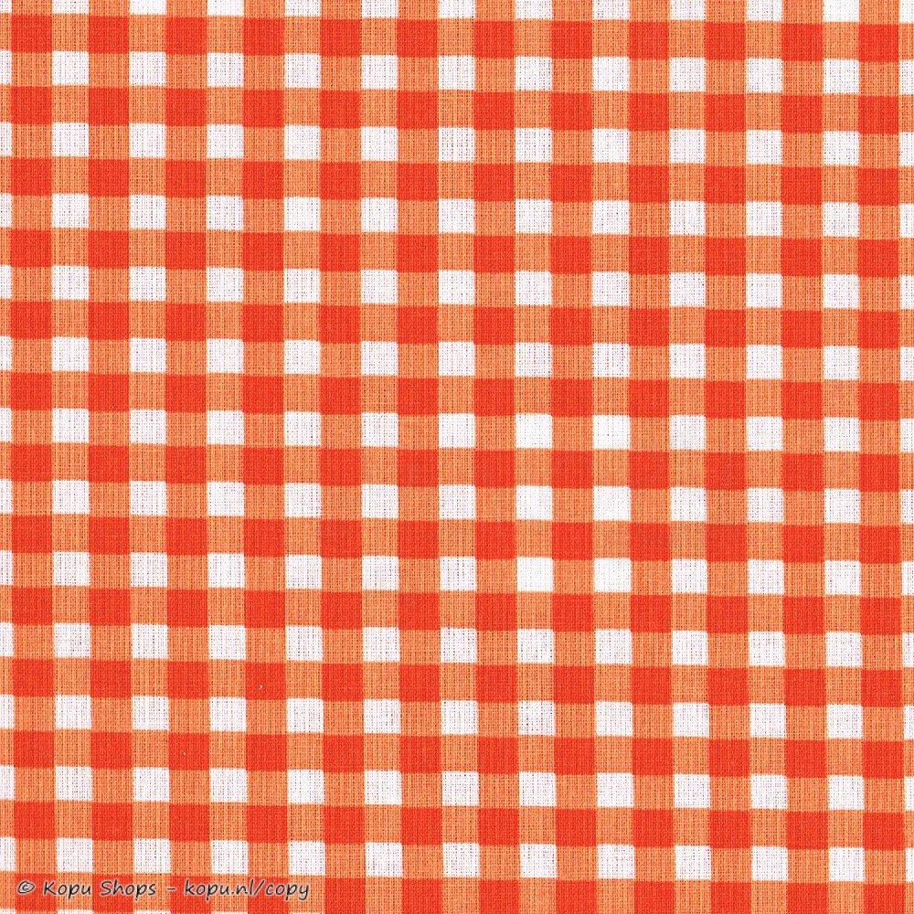 Damai Hoeslaken Vichy Oranje 60 x 120 cm