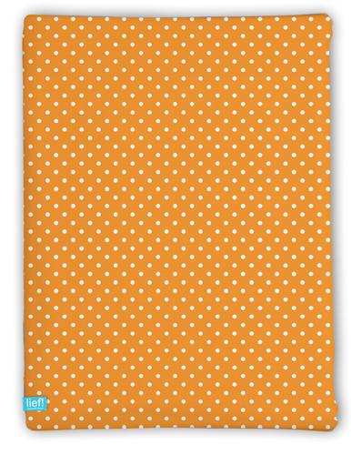 Lief! Hoeslaken Oranje 40x80