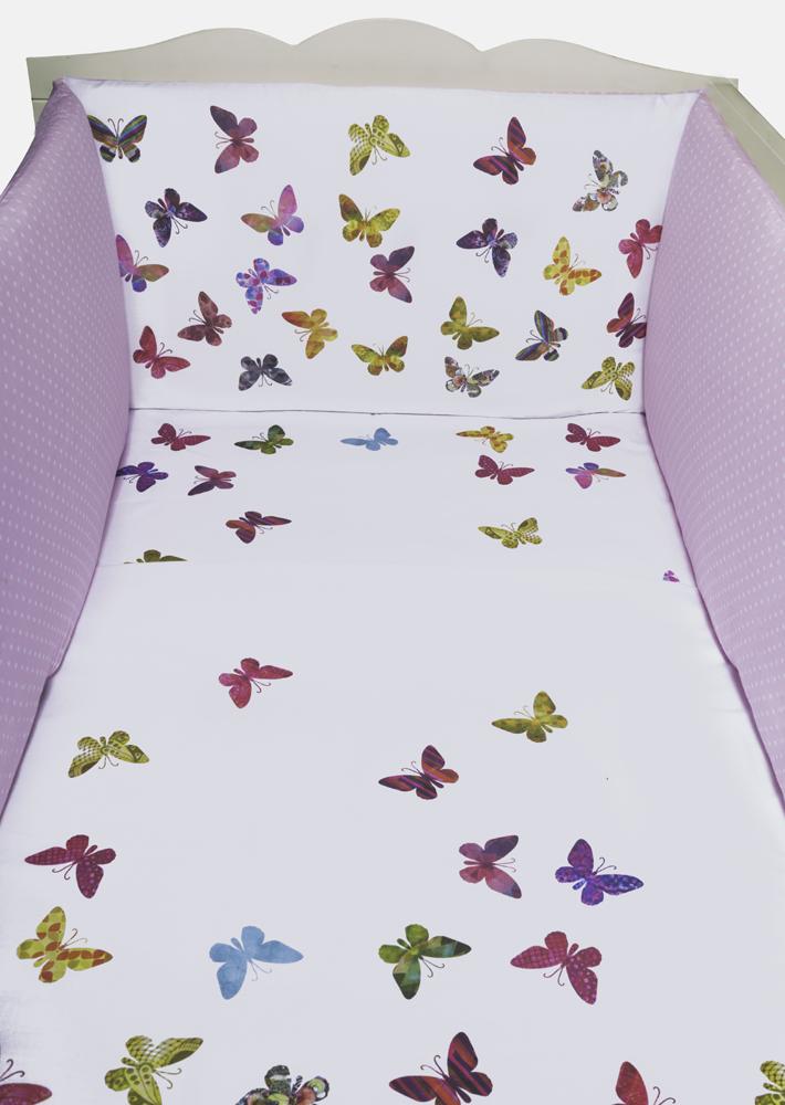 3-Delige Dekbedset Fladderende Vlindertjes (100x135 cm)