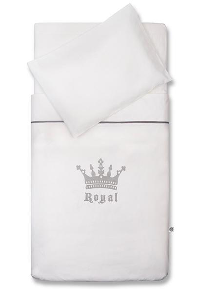 Jollein Dekbedovertrek Crown White 120x150cm