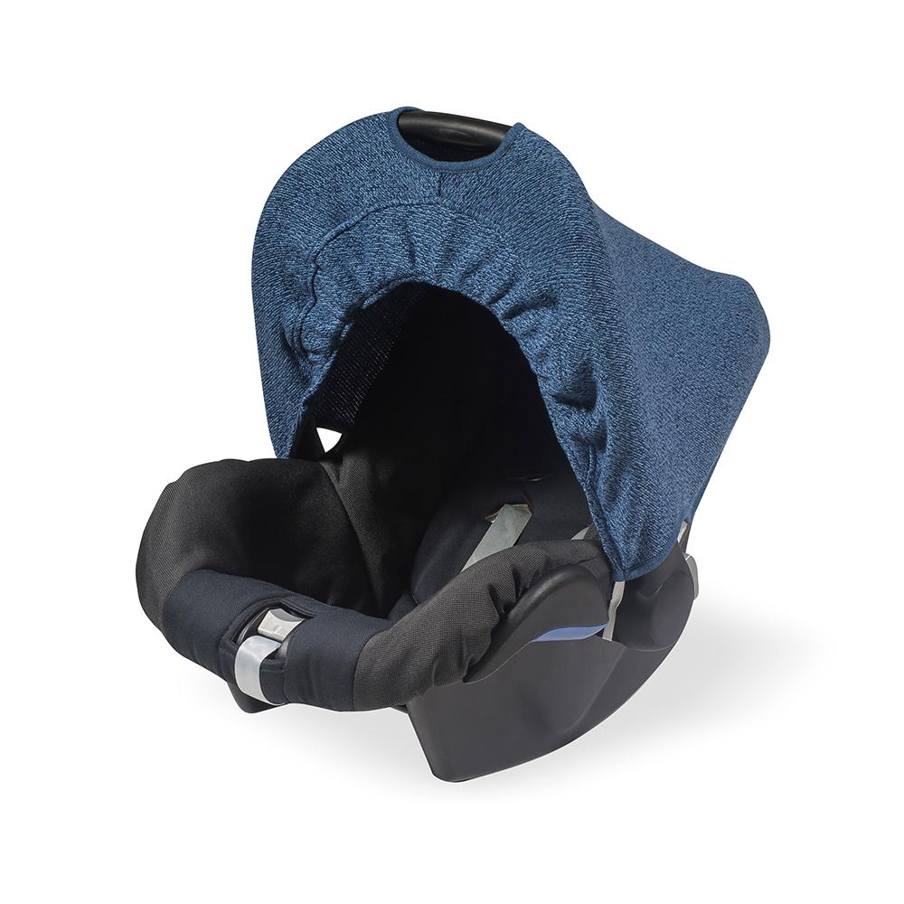 Jollein Zonnekapje Stonewashed Knit Navy (0 tot 9 maanden stoel)