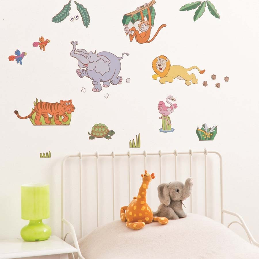 Jungle Safari Mini Wall Art Stickers