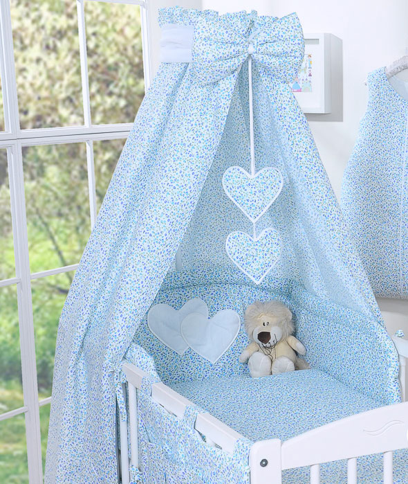 My Sweet Baby Hemel Katoen Blauw-Bloemen