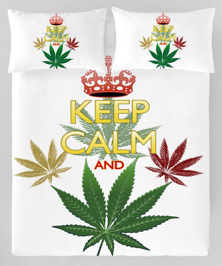 Dekbedovertrek Marijuana Wiet Plant