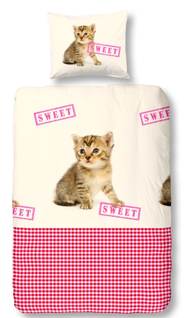 Kinderdekbedovertrek Cat Sweet