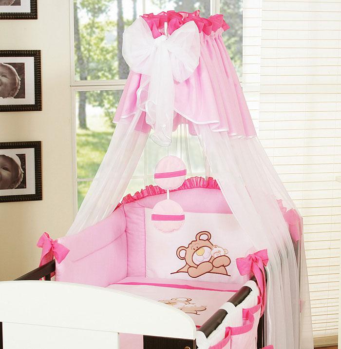 My Sweet Baby 3-delig Set Teddybeer Voile Roze