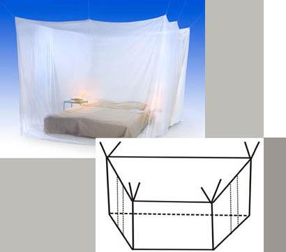 Nachtkastje aan bed vast