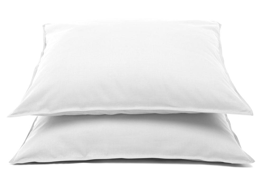 Roze Slaapkamer Volwassenen : Kussensloop Jeans Stiksel Wit (2 stuks)