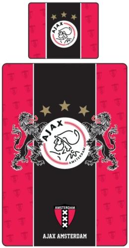 Dekbedovertrek Ajax Rood/Zwart Leeuwen