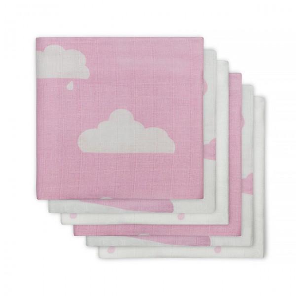 Jollein Hydrofiel Luiers Clouds Pink (6 stuks)