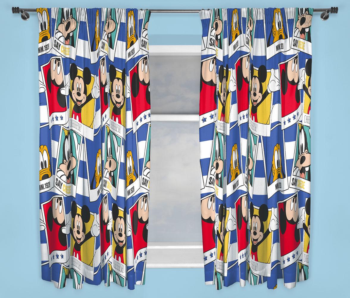 Mickey Mouse Gordijnen Set (2 stuks 168x183cm)