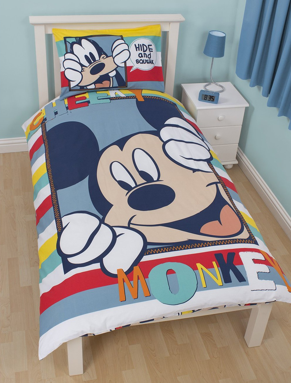 Mickey Mouse Dekbedovertrek Hide