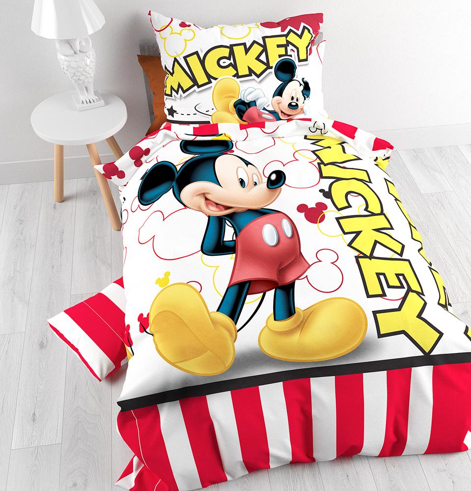 Mickey Mouse Dekbedovertrek Strepen