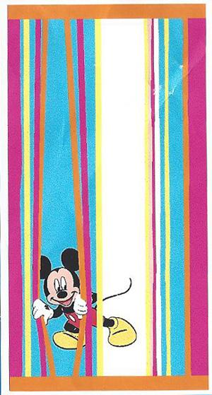 Badlaken Mickey Mouse Stripes 76x152cm