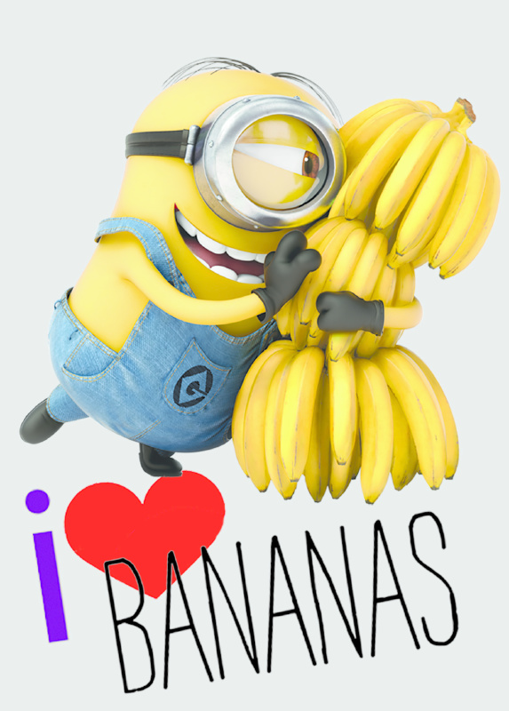 Minions Vloerkleed Love Bananas
