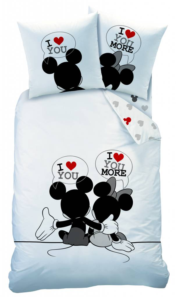 Dekbedovertrek Mickey & Minnie Mouse I Love You-140 x 200 cm