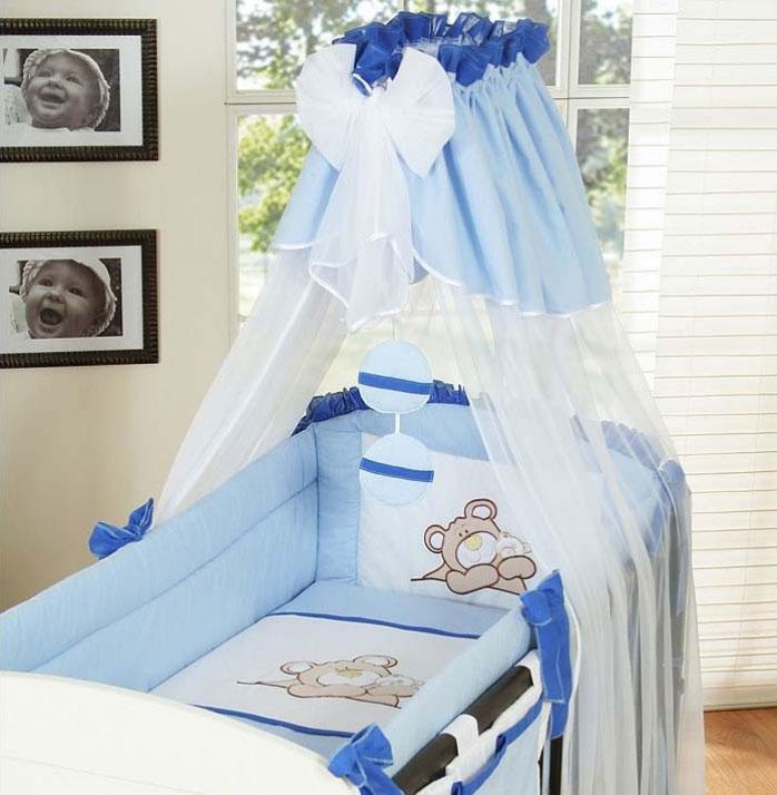 My Sweet Baby 3-delig Set Teddybeer Voile Blauw