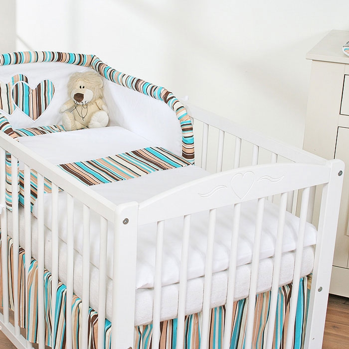 My Sweet Baby Dekbedovertrek Brown/Stripes