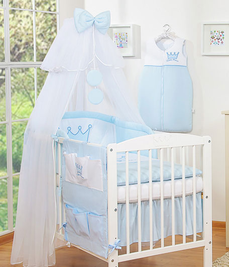 My Sweet Baby Hemeltje Rounds Voile Wit-Blauw