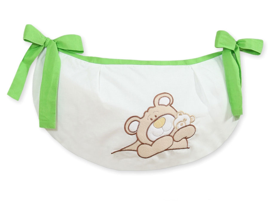 My Sweet Baby Speelgoedzak Teddybeer Lime
