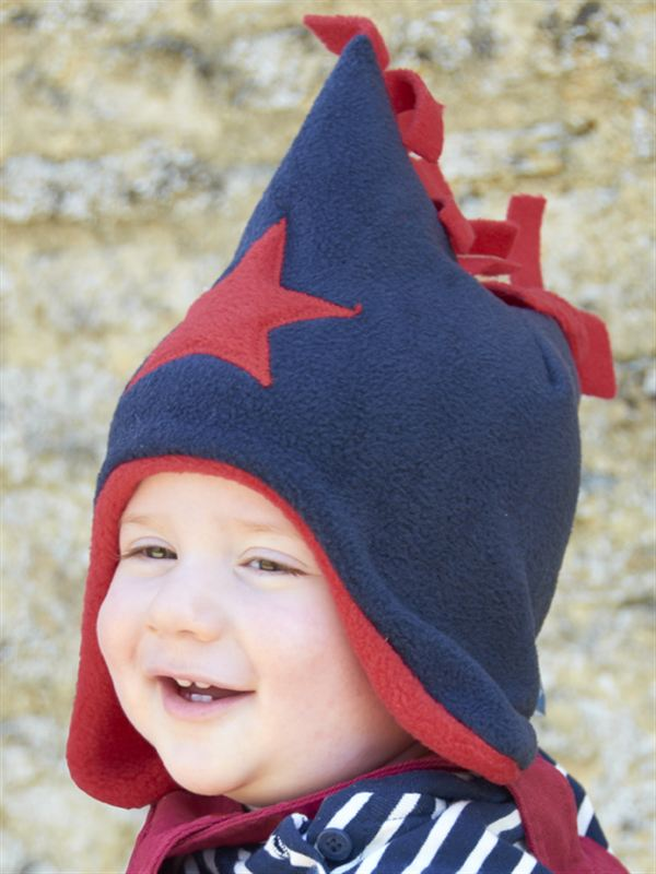 Buggy Snuggle Kindermuts Navy - Red Star S