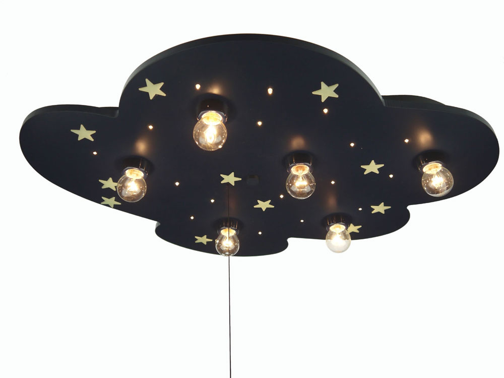 Een Plafondlamp Wolk Met Ster Blauw Niermann te koop aangeboden