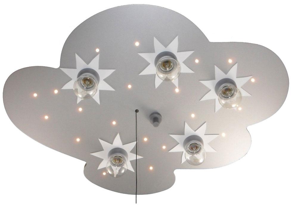 plafondlamp wolk zilver titan niermann plafondlamp wolk zilver titan ...