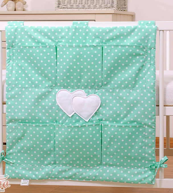 My Sweet Baby Opbergzak Two Hearts Dots-Mint
