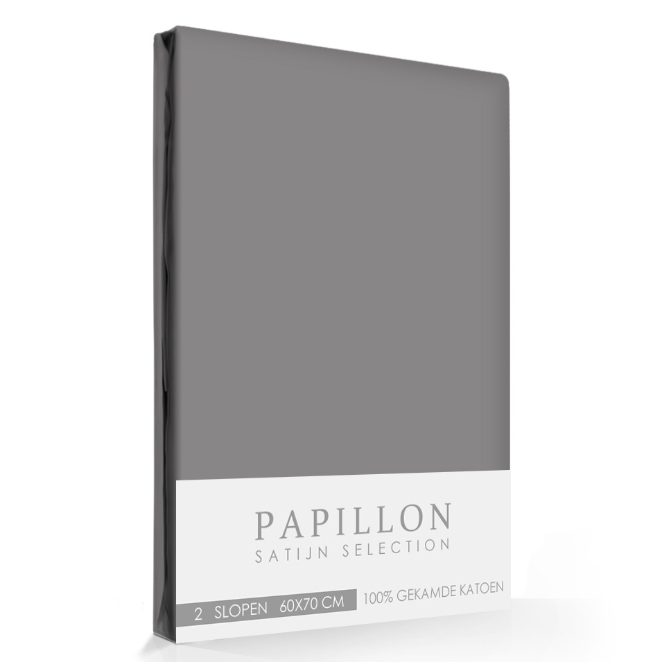Satijn Slopen Papillon Grijs (2 stuks)