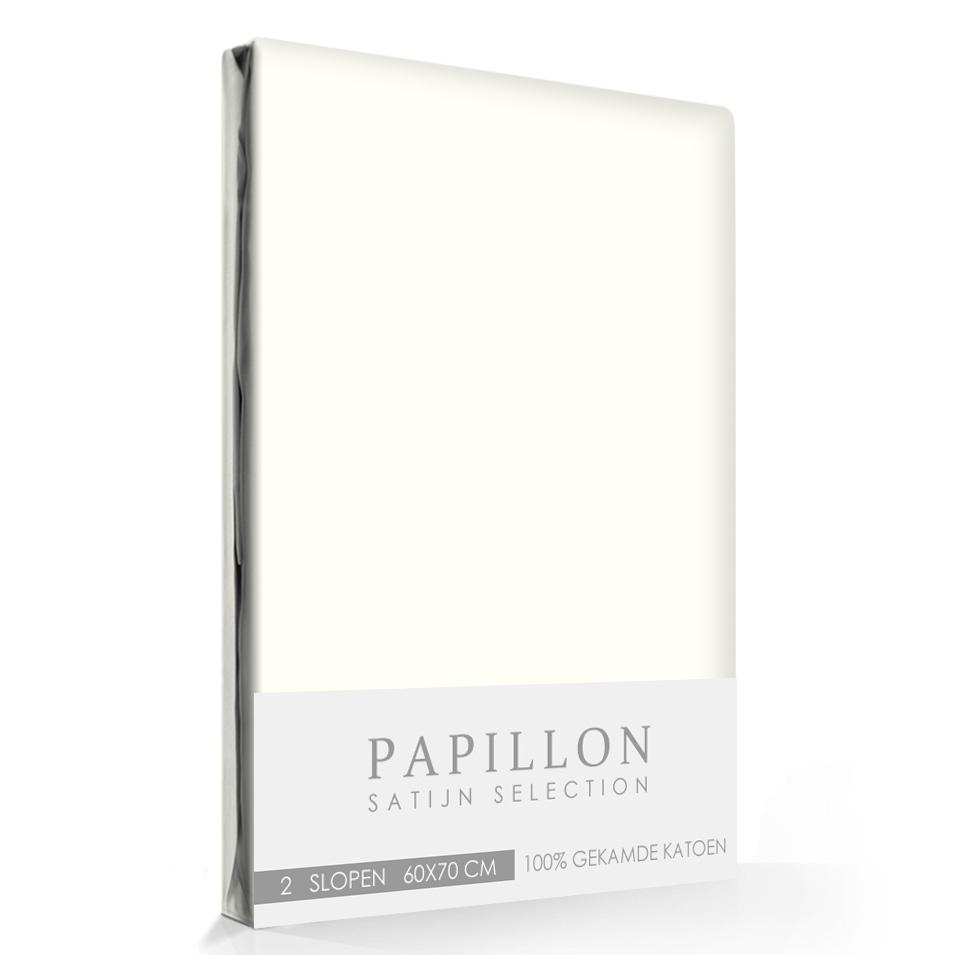 Satijn Slopen Papillon Ivoor (2 stuks)
