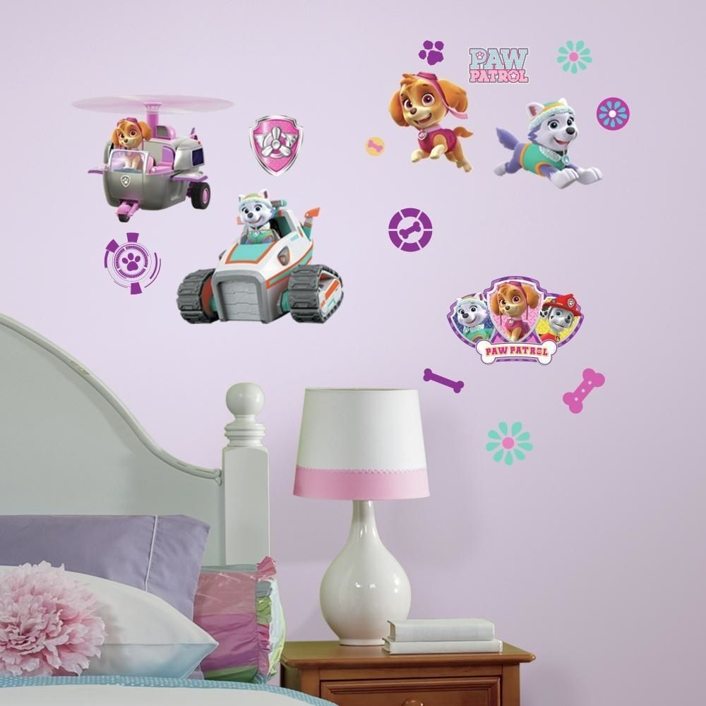 Paw Patrol Muurstickers Girly (RoomMates)