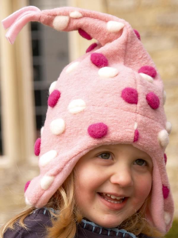 Buggy Snuggle Kindermuts Pom Pom roze S